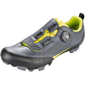 Fizik Terra X5 MTB Shoes Herr grey/yellow fluo
